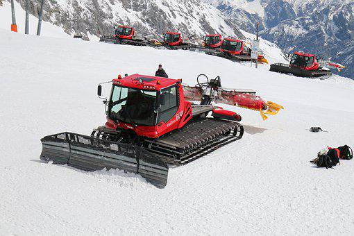 Technology, Snow Groomer, Winter, Snow, Ski Area