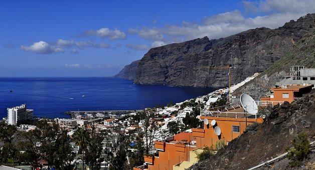 Tenerife, Los Gigantes, The Cliffs, Landscape, Tourism