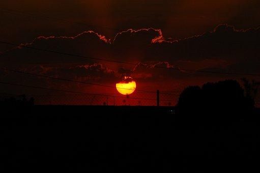 Sky, Sunset, Twilight, Landscape, Nature