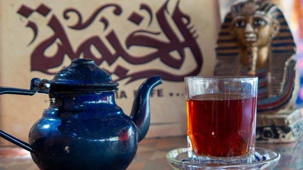 Hurghada, Vacation, Egypt, Colorful, Tea, Teapot, Cub