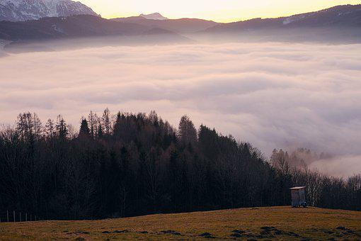 Nature, Landscape, Mountains, Valley View, Fog