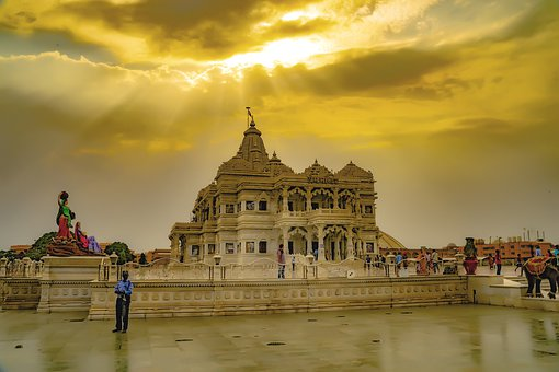 Indian Temple, Vrindavan, Mathura, Radha Krishna