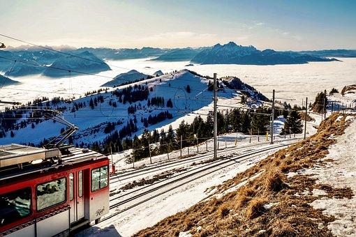 Panorama, Mountains, Winter, Alpine