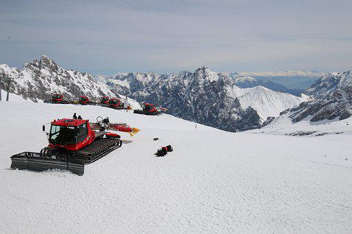 Technology, Snow Groomer, Winter, Mountains, Ski Area