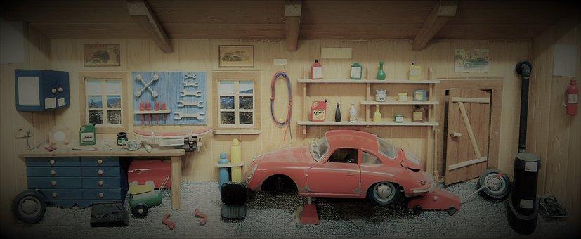 Modelling, Wood Picture, 3d, Three Dimensional, Porsche