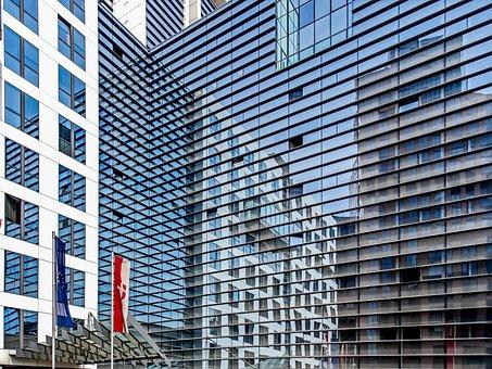 Reflections, Vienna, Austria, Building, Architecture