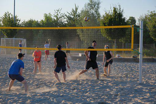 Sport, Play, Beach, Web, Team, Beach Volleyball