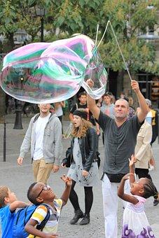 Bubbles, Soap, Artist, Juggle, Child, Play, Bubble