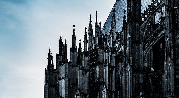 Cathedral, Cologne, Germany, Church, Dom, City, Bridge