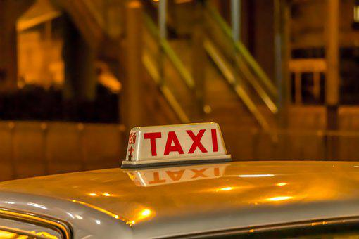 Taxi, Hong Kong, City, Travel, Street, Sign, Tour