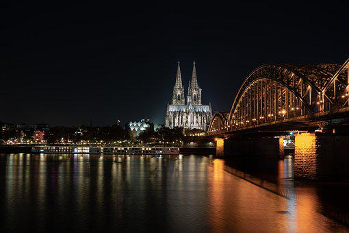 Bridge, Cathedral, Germany, Cologne, Church