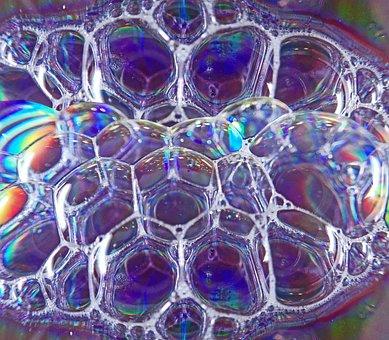 Bubbles, Soap, Transparent, Colorful, Design, Water