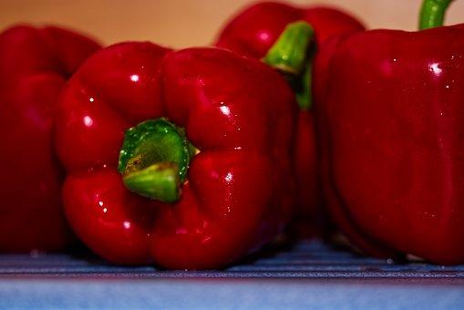 Paprika, Red, Green, Cook, Eat, Food, Vegetables