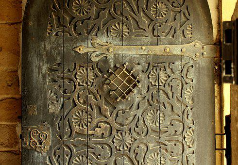 The Door, Gates, Antique, Wooden, Ornament, Decorative
