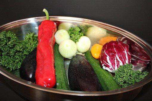 Eggplant, Zucchini, Onion, Paprika, Vegetables, Food