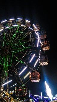 Ferris Wheel, Ride, Fair, Entertainment, Fun, Carnival