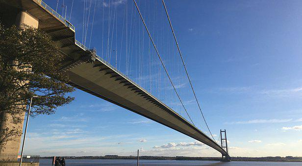 Humber Bridge, Bridge, Sky, Hull, Suspension