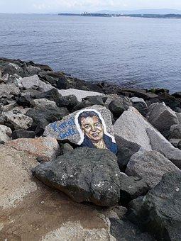 Karel Gott, Stones, Image, Coast, Sea