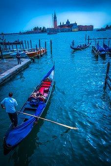 Venice, Laguna, Blue, Dramatic, Italy