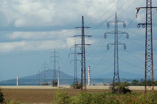 Landscape, Energy, Masts, Sky, Industry