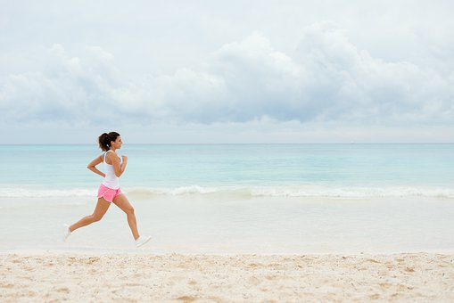 Beach, Run, Health, Exercise, Lose Weight