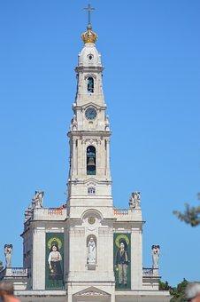 Building, Church, Sanctuary, Fatima, Portugal, Lucy