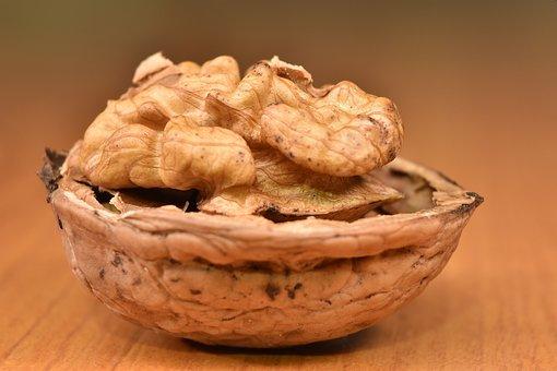 Walnut, Macro, Food, Healthy, Dry, Brown