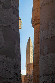 Luxor, Temple, Obelisk, Pillars, Egypt, Antique