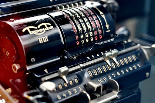 Calculating Machine, Old Abacus, Old