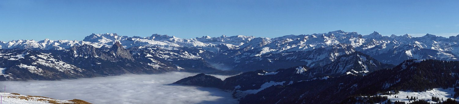 Panoramic Photo, Panorama, Alpine, Alps