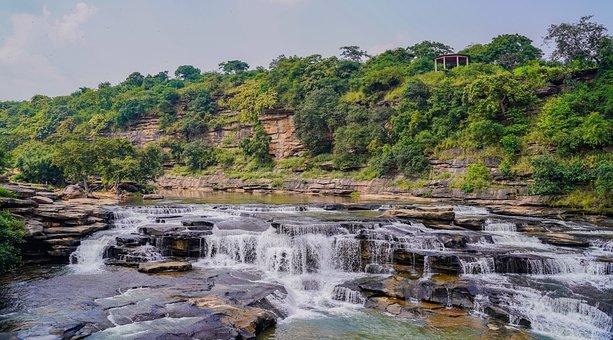Outdoors, Flow, Park, Scenery, Waterfalls