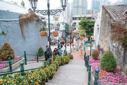 Macau, Street View, Street, Road, City, Building