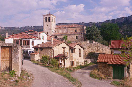 Village, Church, Rural, Landscape