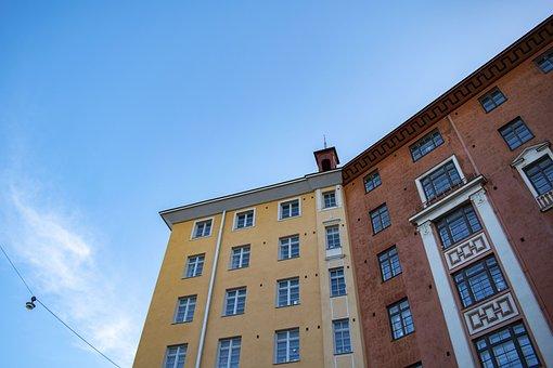 City, Houses, Finnish, Finland, House, Sky