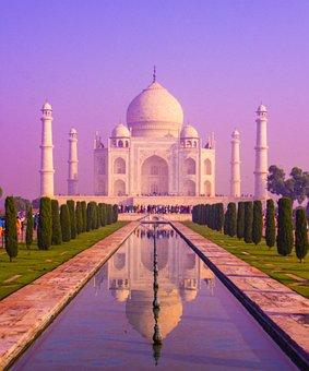 Taj Mahal Sunset, Taj Mahal India