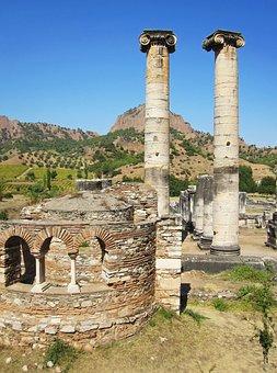 Sardis Ruins, Temple Of Artemis, 4th Century Church