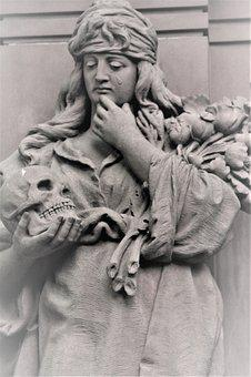Sculpture, Tomb, Death, Transient, Skull