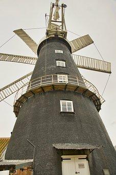 Windmill, Vanes, Blades, Power, Mill