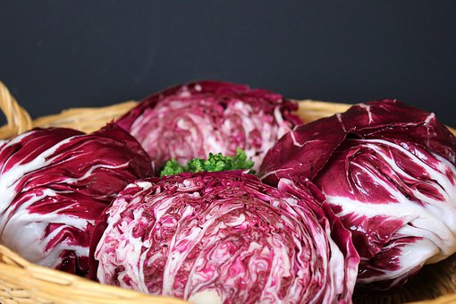 Red Cabbage, Red, Vegetables, Raw, Kohl