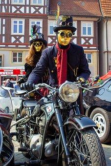 Venice, Costume, Mask, Feather, Hat, Carnival, Boa