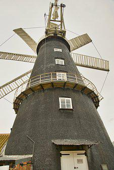 Windmill, Vanes, Blades, Power, Mill, Rotation, Vintage