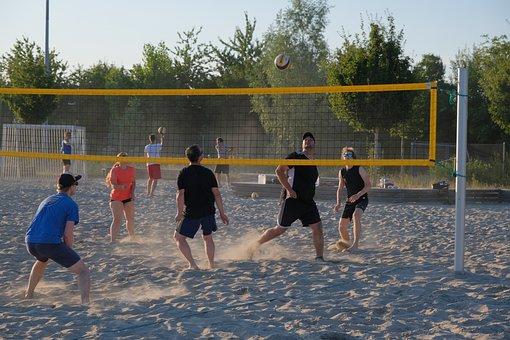 Sport, Play, Beach, Web, Team