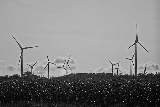 Windmills, Wind Turbine, Northern Germany, Renewable