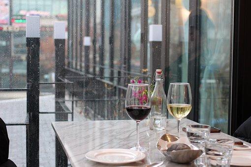 Wine Glasses, Red And White Wine, Window Seat Wine