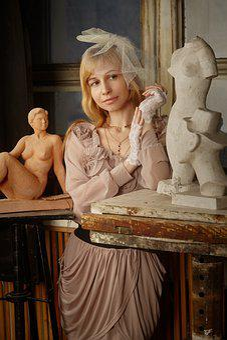 Girls, Women, Sculpture, Workshop, Creativity, Lady