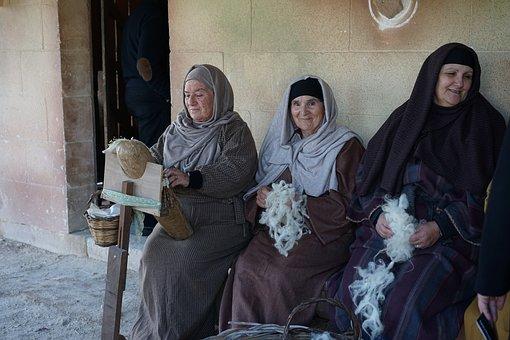 Women, Bethlehem, Antiquity, Wool, Antique, Yarn, Craft