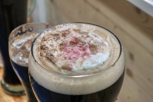 Foam, Beer, Glass, Alcohol, Beverages
