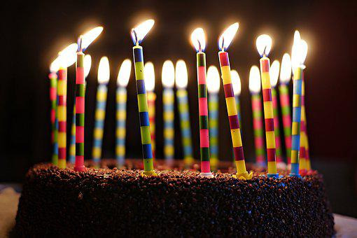 Candles, Birthday Cake, Sweet, Congratulations, Eat