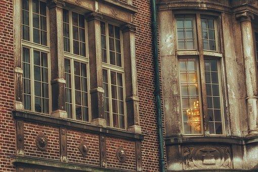 Building, Bremen, House, Window, Light, Lamp