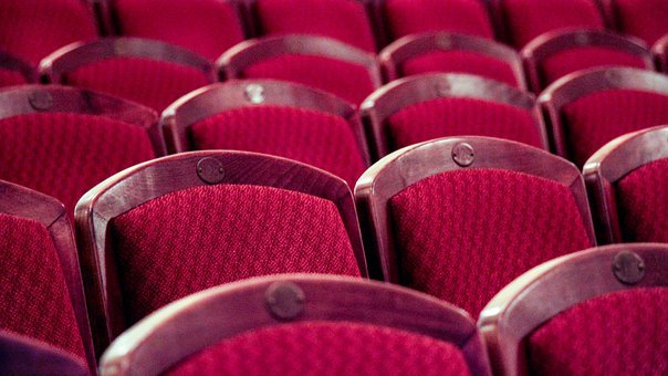 Theater, Chairs, Red, Audience, Cinema, Orchestra